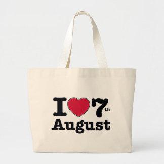 7th july birthday design canvas bag