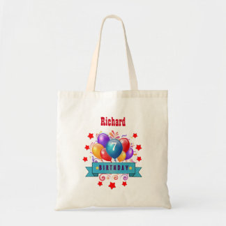 7th KIDS Birthday Festive Colorful Balloons B10DZ Bags
