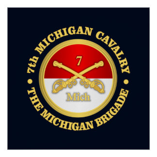 7th Michigan Cavalry (rd) Poster