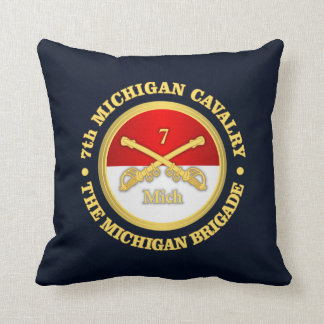 7th Michigan Cavalry (rd) Throw Pillow