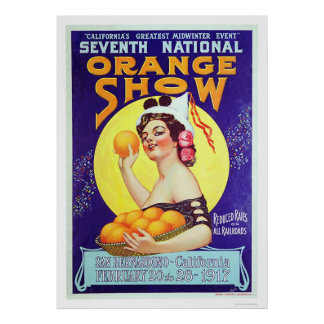7th National Orange Show 1917 Poster