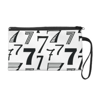 7th or 70th Birthday or Anniversary Seven Pattern Wristlet