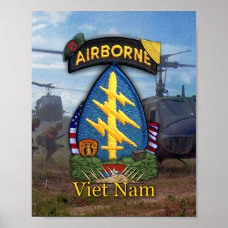 7th special forces green berets vietnam war print