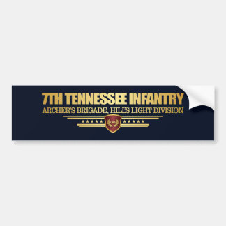7th Tennessee Infantry Bumper Sticker