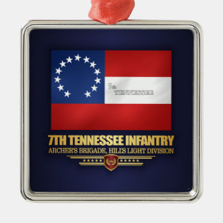 7th Tennessee Infantry Metal Ornament