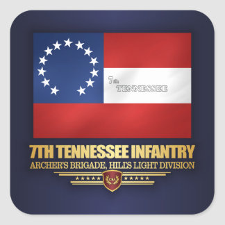 7th Tennessee Infantry Square Sticker