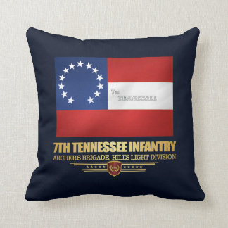 7th Tennessee Infantry Throw Pillow