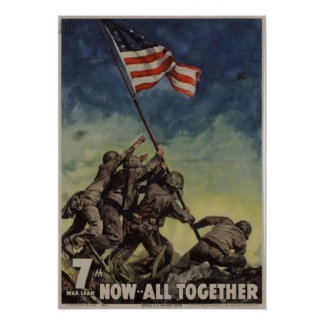 7th War Loan: Now -- All Together Poster