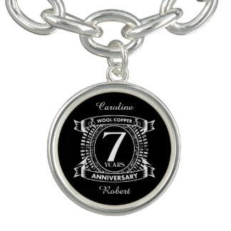 7TH wedding anniversary wool copper Bracelet