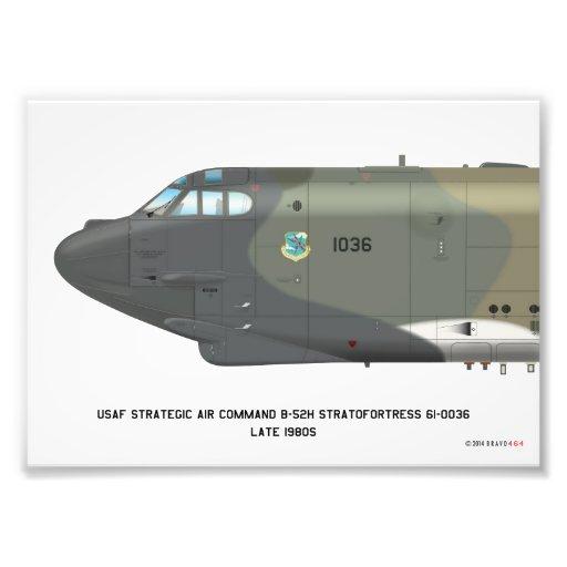 7x5 B-52H Strategic Air Command Late SIOP Print Photo Art
