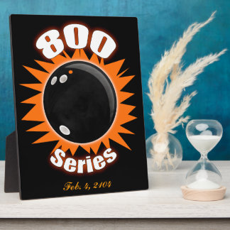 800 Series in Black and Orange Plaque