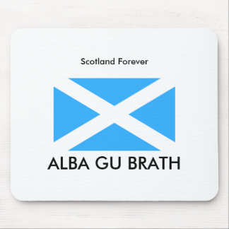 800px-Flag_of_Scotland_%28traditional%29, ALBA ... Mouse Pad