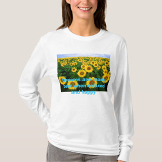 800px-Sunflowers, Dreams are made best when rel... T-Shirt