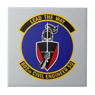 802nd Civil Engineer Squadron - Lead The Way Ceramic Tiles