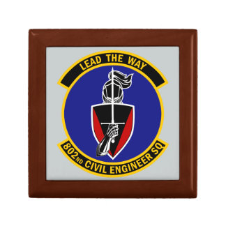 802nd Civil Engineer Squadron - Lead The Way Jewelry Boxes