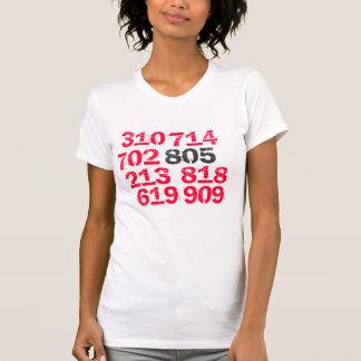 805, 619, 714, 702, 818, 213, 909, 310 T-Shirt
