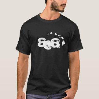 808 Hawaiian Islands - Black T-Shirt