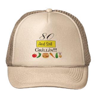 80 and Still Grillin' Ball Cap Trucker Hat