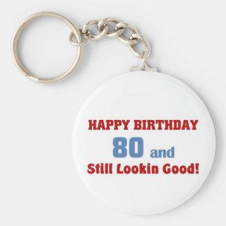 80 and still lookin good keychain