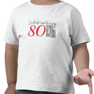 80 ans d'être impressionnant t-shirt