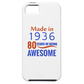80 birthday design iPhone 5 cover