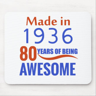80 birthday design mouse pad