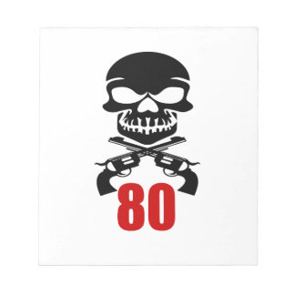 80 Birthday Designs Notepad
