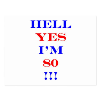 80 Hell yes Postcard