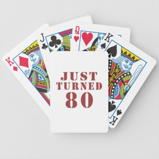 80 Just Turned Birthday Bicycle Playing Cards