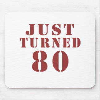 80 Just Turned Birthday Mouse Pad