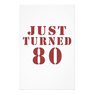 80 Just Turned Birthday Stationery