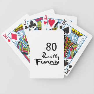 80 Really Funny Birthday Designs Bicycle Playing Cards