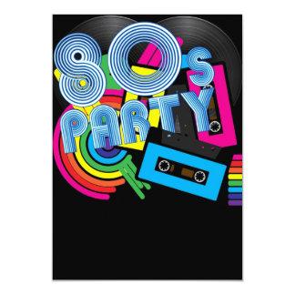 """80 Retro Party 5"""" X 7"""" Invitation Card"""