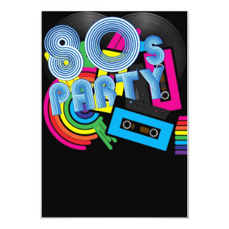 80 Retro Party Card