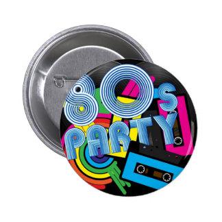 80 Retro Party Pinback Button