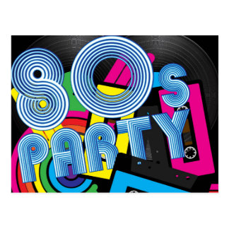 80 Retro Party Postcard
