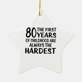 80 The First  Years Birthday Designs Ceramic Star Ornament