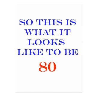 80 What It Looks Like Postcard