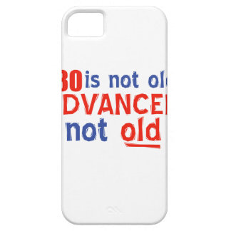 80 year old birthday designs iPhone 5 cover