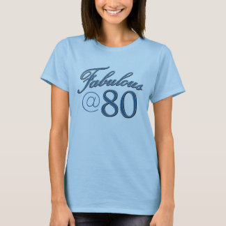 80  year old birthday designs T-Shirt