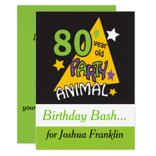 80 Year Old Birthday Invitations Announcements