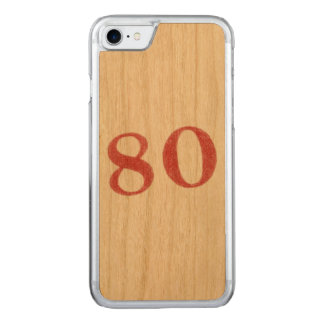 80 years anniversary carved iPhone 7 case