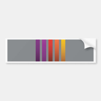 80Colorful Lines_rasterized Bumper Sticker