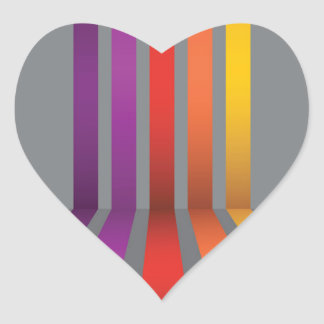 80Colorful Lines_rasterized Heart Sticker