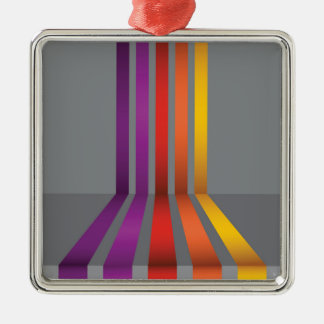 80Colorful Lines_rasterized Metal Ornament