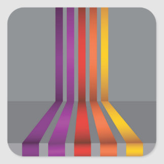 80Colorful Lines_rasterized Square Sticker