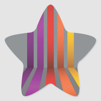 80Colorful Lines_rasterized Star Sticker