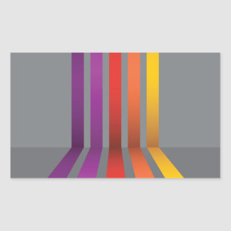 80Colorful Lines_rasterized Sticker