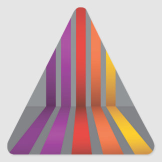 80Colorful Lines_rasterized Triangle Sticker
