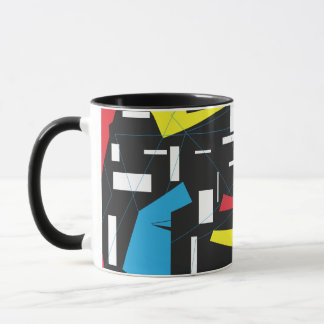 80s 90s retro hipster geometric pattern mug